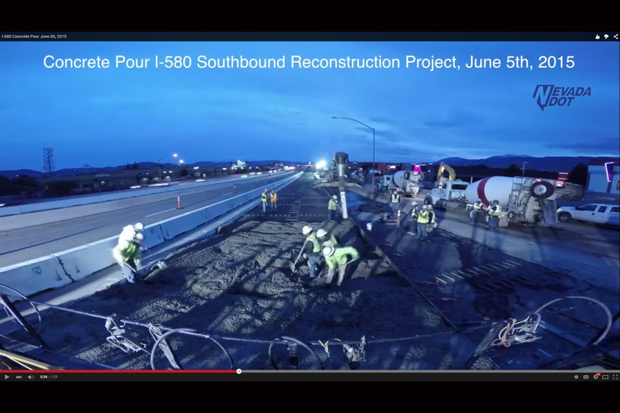 Timelapse Video of I-580 Concrete Pour