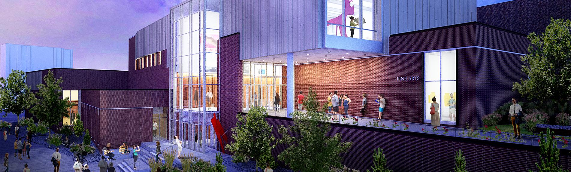 university arts building at UNR