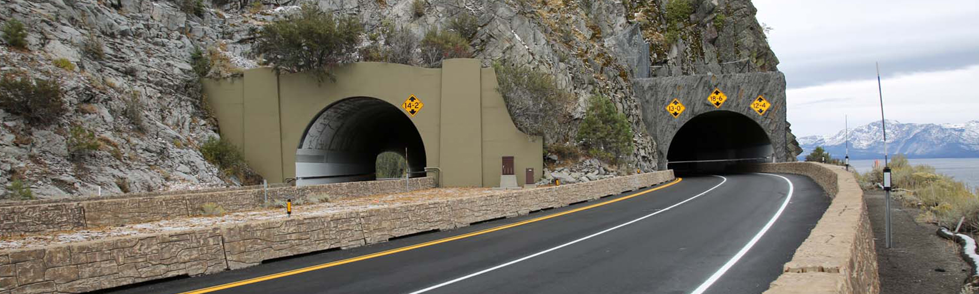 new cave rock tunnel u.s. 50 extension project