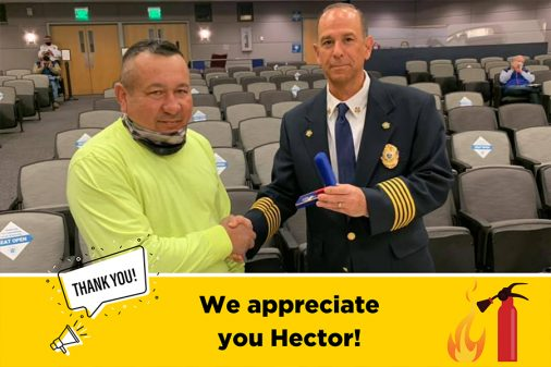 hector fights sparks fire